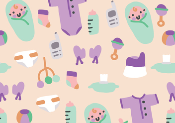 Baby Elements Pattern - Free vector #377401