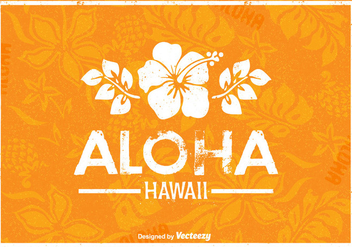 Free Hawaii Vector Retro Poster - Free vector #377491