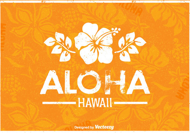 Free Hawaii Vector Retro Poster - Kostenloses vector #377491