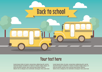 Free Back To School Vector Background - бесплатный vector #377501