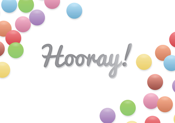 Hooray! Background - vector gratuit #377581