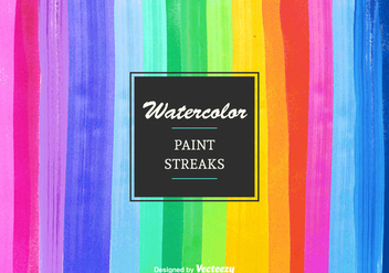 Free Vector Watercolor Paint Streaks - бесплатный vector #377601
