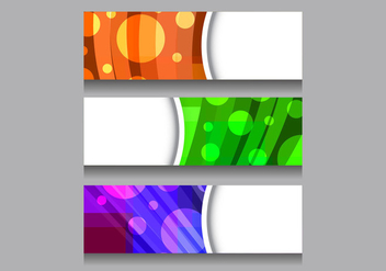 Free Vector Colorful Header - бесплатный vector #377611