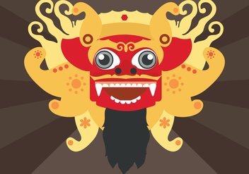 Barong Vector Illustration - vector #377641 gratis