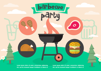 Free Barbecue Party Vector - Kostenloses vector #377701