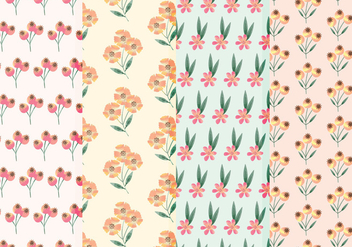 Wildflower Vector Watercolor Patterns - Kostenloses vector #377761