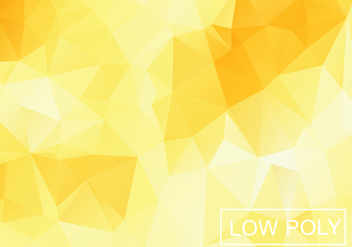 Yellow Geometric Low Poly Style Illustration Vector - бесплатный vector #377811