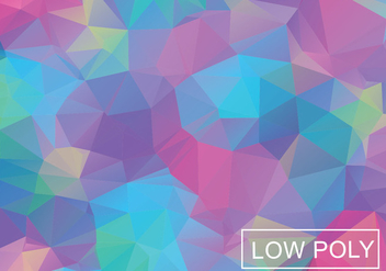 Cool Color Geometric Low Poly Style Illustration Vector - Free vector #377821