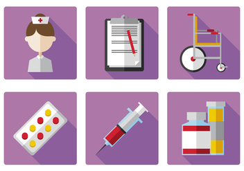 Vector Nurse Icon Set - vector gratuit #377831