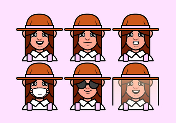 Vector Farmer Girl - Free vector #377871