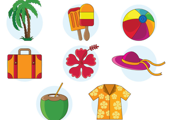 Set Of Hawaii Vector - vector gratuit #377901