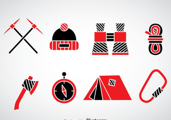 Mountaineer Icons Vector - Free vector #377941