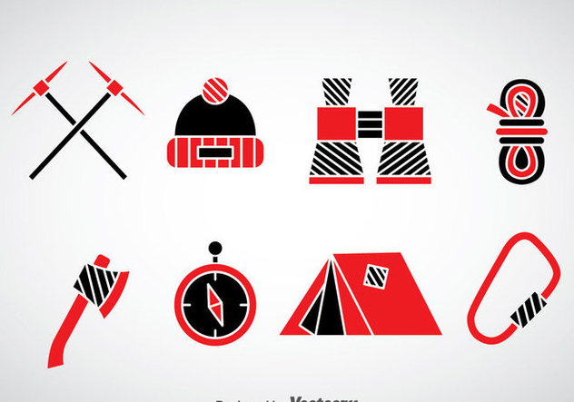 Mountaineer Icons Vector - vector gratuit #377941