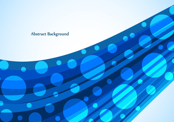 Free Vector Bright Blue Wave Background - Free vector #377981