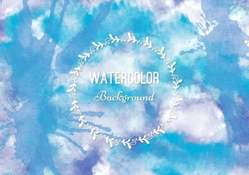 Free Vector Blue Watercolor Background - vector gratuit #377991