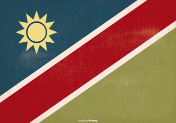 Old Style Namibia Flag - vector #378011 gratis