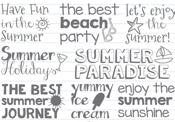 Cute Hand Drawn Beach/Summer Labels - Kostenloses vector #378021