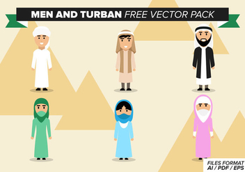 Men And Turban Free Vector Pack - vector gratuit #378091