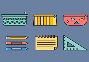 Free Pencil Case Vector 2 - Free vector #378111
