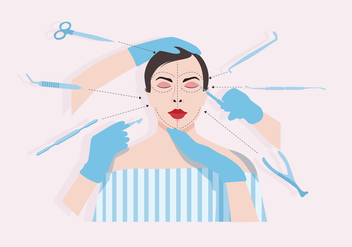 Plastic Surgery Vector - Free vector #378151