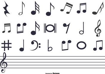 Music Notes Set - vector gratuit #378181