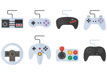 Game Pad And Button - vector gratuit #378321