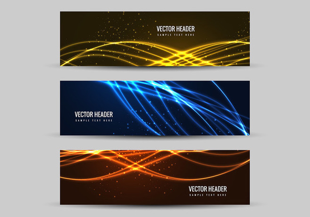 Free Vector Colorful Headers - Kostenloses vector #378331