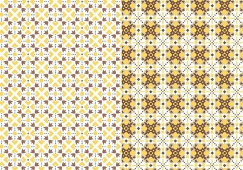 Yellow Motif Pattern - vector #378381 gratis