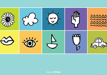 Hand Drawn Doodle Vector Icons - Free vector #378441