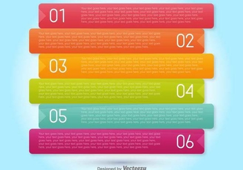 Vector Progress Banners For Six Steps - vector gratuit #378451