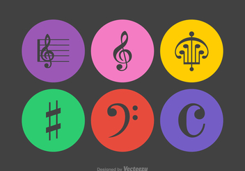 Free Musical Notes Vector Icons - vector #378481 gratis