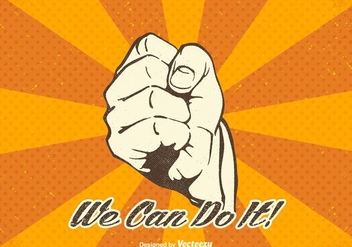 Free Vector We Can Do It Design - vector gratuit #378491