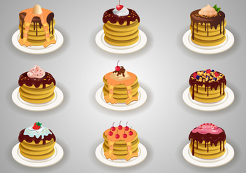 Stock Vector Pancake With Topping - vector gratuit #378521