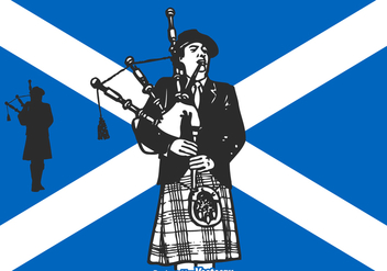 Free Vector Scottish Bagpiper - Kostenloses vector #378531