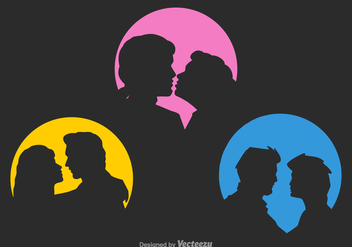 Free Vector Couple Silhouettes - Free vector #378541