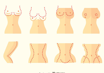 Plastic Surgery Vector Set - vector gratuit #378591
