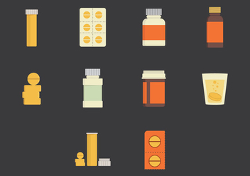 Effervescent Medicine Vector Icon - бесплатный vector #378671