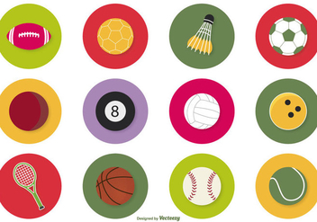 Sport Ball Icon Set - Free vector #378691