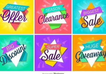 Sale And Discount Vector Labels/Banners - Kostenloses vector #378701