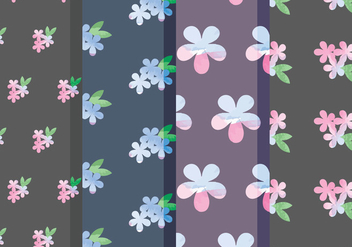 Vector Floral Patterns - vector gratuit #378721