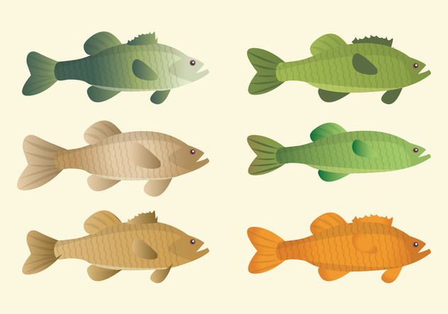Vector Fishes Collection - vector gratuit #378761