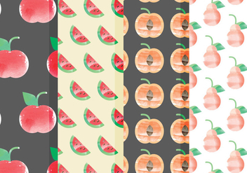 Vector Fruit Patterns - Free vector #378771