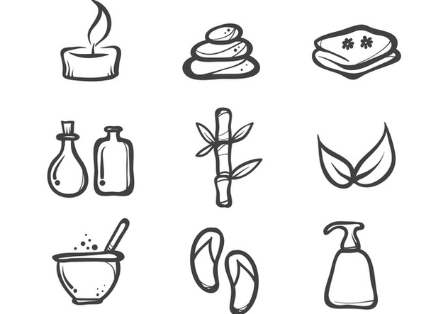 Free Ink Drawn Spa Icon Vectors - Free vector #378811