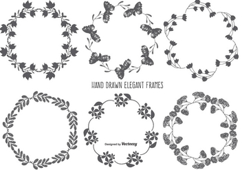 Hand Drawn Style Frame Set - Free vector #378831