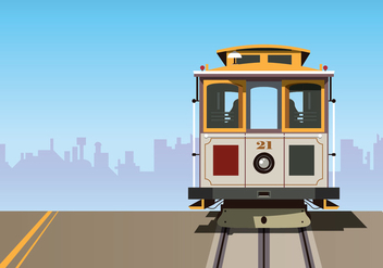 Cable Car Vector Background - бесплатный vector #378861