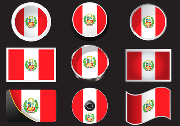 Peru Flag Stock Vector - Free vector #378921