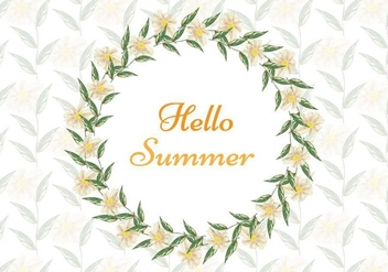 Free Vector Watercolor Summer Background - Free vector #379031