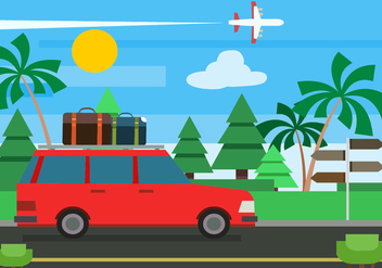 Free Flat Summer Vector Illustration - бесплатный vector #379081