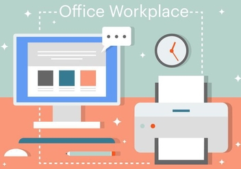Free Flat Business Office Vector Elements - vector #379111 gratis