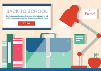 Free Back to School Vector Illustration - бесплатный vector #379141